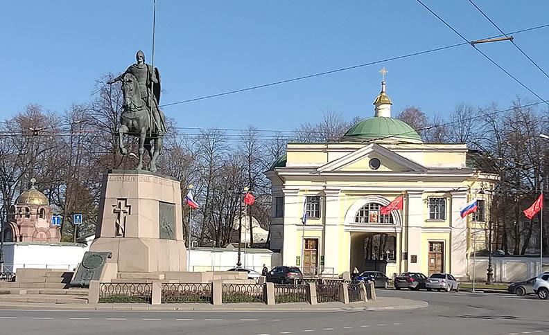 Alexander Nevsky square, entrance to Holy Trinity and Saint Alexander Nevsky monastery