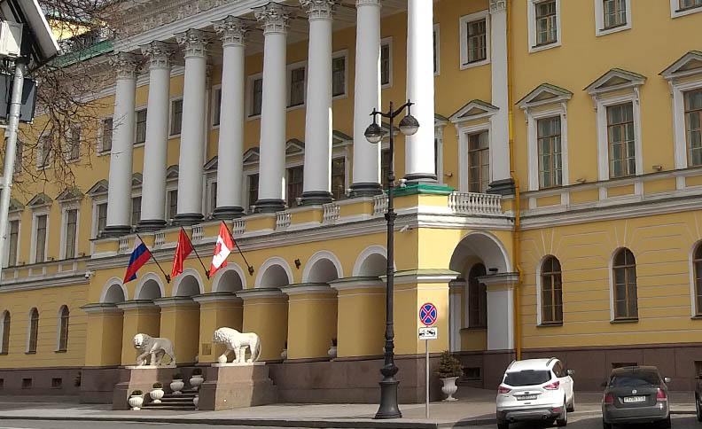 Lions in the Lobanov-Rostovsky mansion