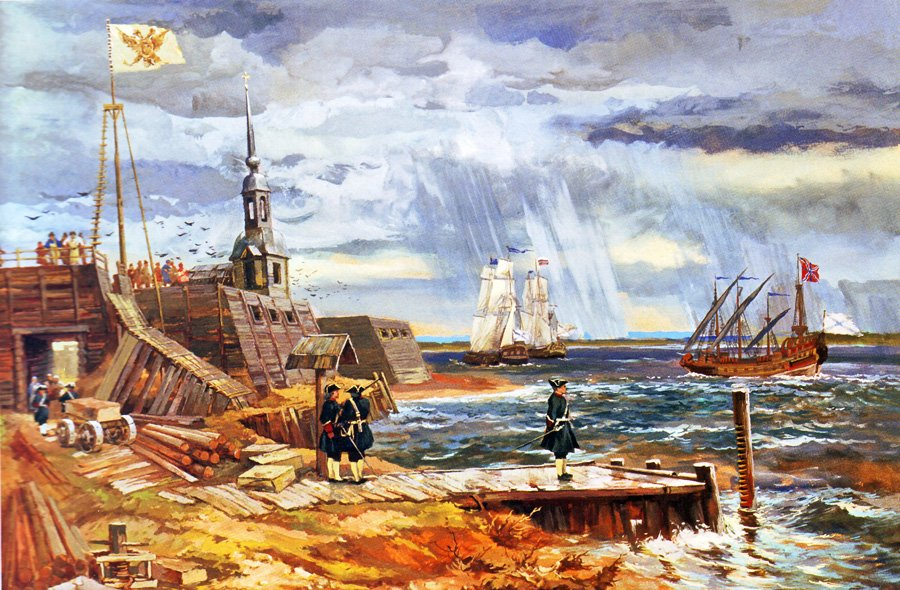 The beginning of construction of Saint Petersburg Author: Alexander Blinkov
